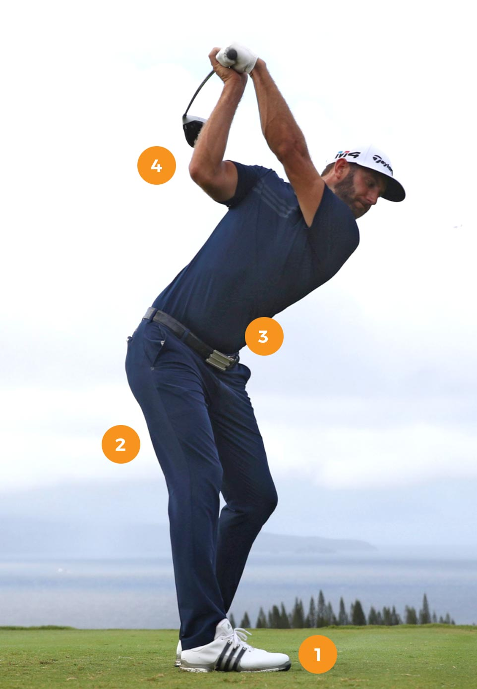 Dustin Johnson swing strength image