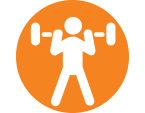 weight lifter icon