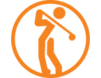 golfer swing icon